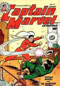 Cover Thumbnail for Captain Marvel Adventures (Fawcett, 1941 series) #91
