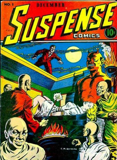 Cover for Suspense Comics (Temerson / Helnit / Continental, 1943 series) #1