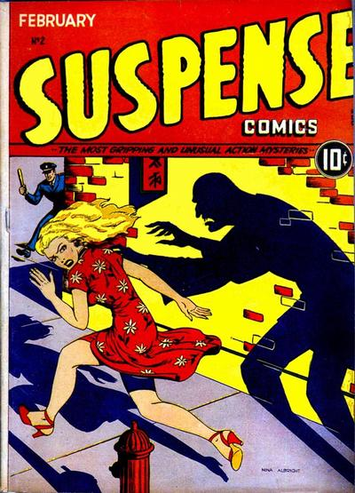 Cover for Suspense Comics (Temerson / Helnit / Continental, 1943 series) #2