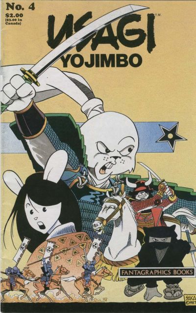Cover for Usagi Yojimbo (Fantagraphics, 1987 series) #4