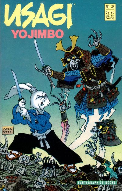 Cover for Usagi Yojimbo (Fantagraphics, 1987 series) #33