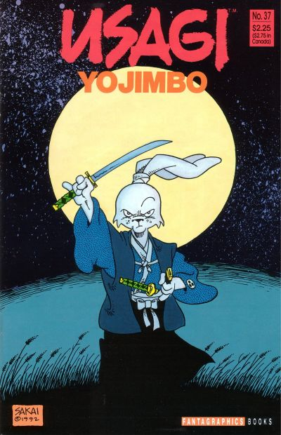 Cover for Usagi Yojimbo (Fantagraphics, 1987 series) #37