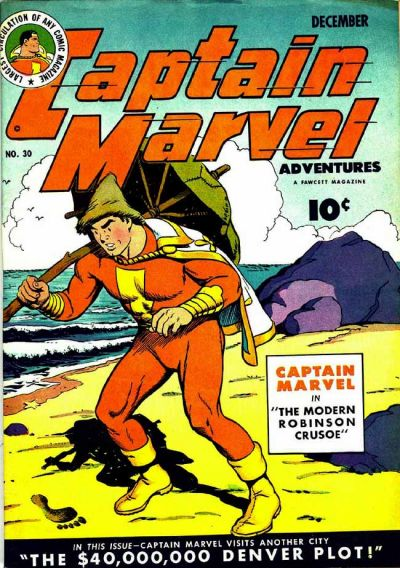 Cover for Captain Marvel Adventures (Fawcett, 1941 series) #30