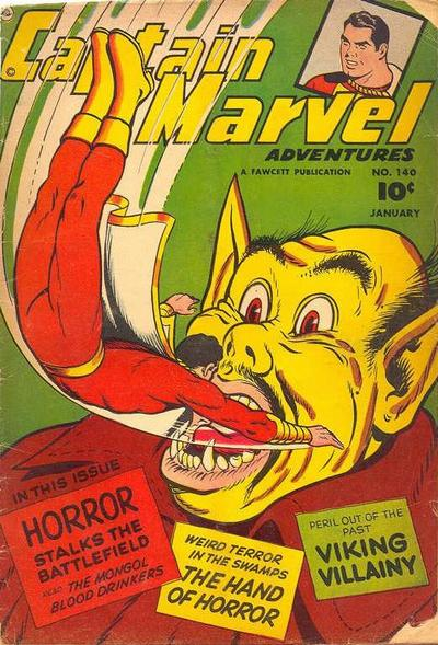 Cover for Captain Marvel Adventures (Fawcett, 1941 series) #140