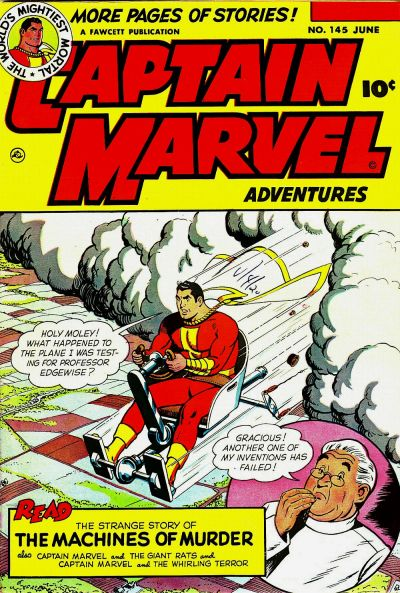 Cover for Captain Marvel Adventures (Fawcett, 1941 series) #145