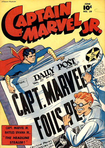 Cover for Captain Marvel Jr. (Fawcett, 1942 series) #39