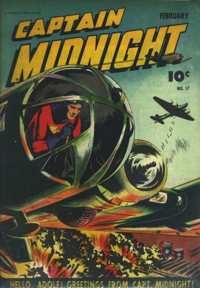 Cover for Captain Midnight (Fawcett, 1942 series) #17