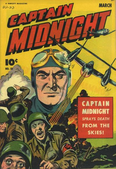 Cover for Captain Midnight (Fawcett, 1942 series) #18