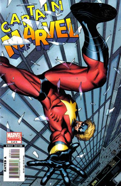 Cover for Captain Marvel (Marvel, 2008 series) #3 [Second Printing]