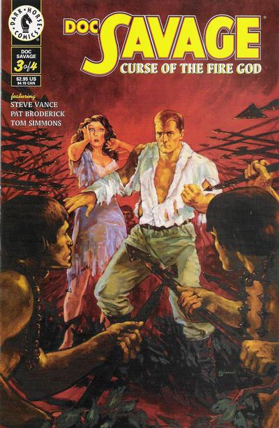 Cover for Doc Savage: Curse of the Fire God (Dark Horse, 1995 series) #3