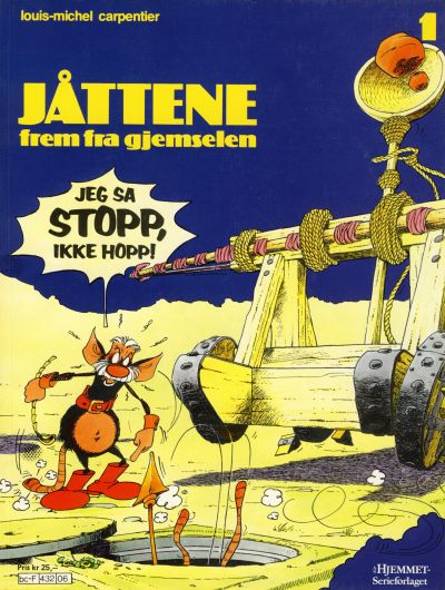Cover for Jåttene (Hjemmet, 1986 series) #1 [Reutsendelse]