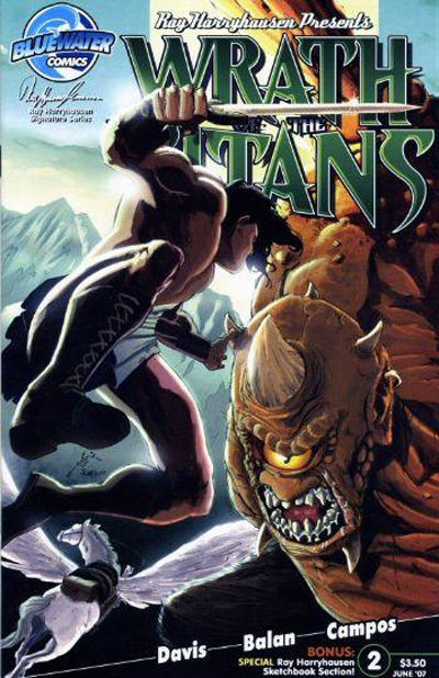 Cover for Wrath of the Titans (Bluewater Productions, 2007 series) #2 [Nadir Balan Cover]