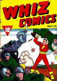 Cover for Whiz Comics (Fawcett, 1940 series) #3