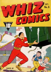 Cover Thumbnail for Whiz Comics (Fawcett, 1940 series) #8
