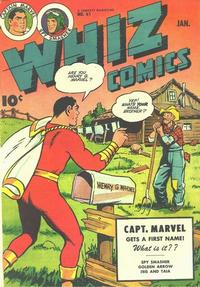 Cover Thumbnail for Whiz Comics (Fawcett, 1940 series) #61