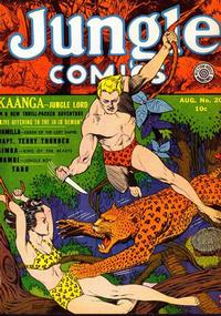Cover Thumbnail for Jungle Comics (Fiction House, 1940 series) #20