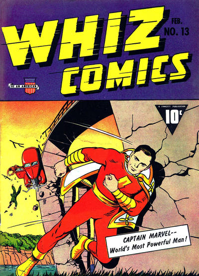 Cover for Whiz Comics (Fawcett, 1940 series) #13
