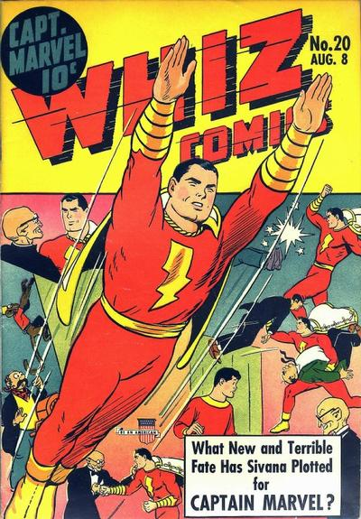 Cover for Whiz Comics (1940 series) #20