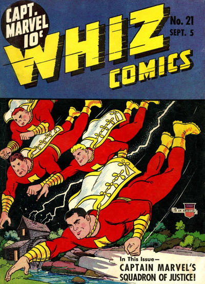 Cover for Whiz Comics (Fawcett, 1940 series) #21