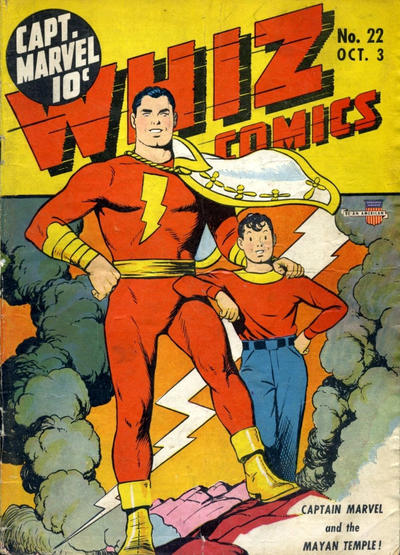 Cover for Whiz Comics (Fawcett, 1940 series) #22