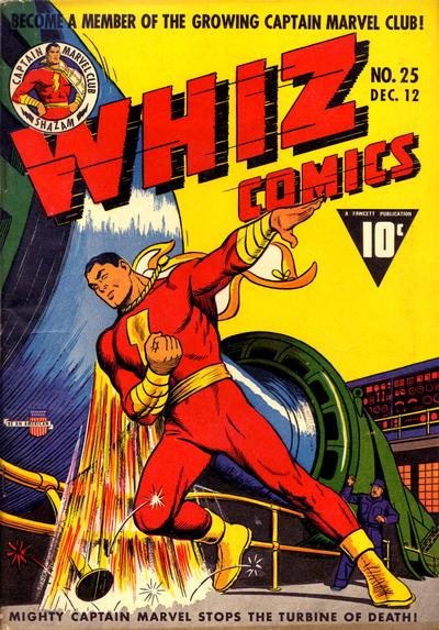 Cover for Whiz Comics (Fawcett, 1940 series) #25