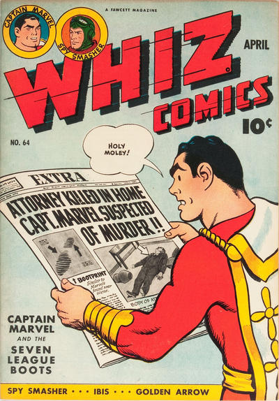 Cover for Whiz Comics (Fawcett, 1940 series) #64