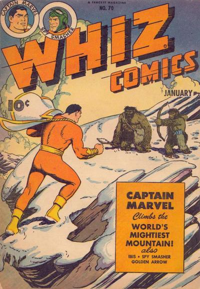 Cover for Whiz Comics (Fawcett, 1940 series) #70