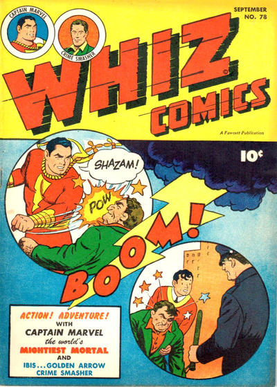 Cover for Whiz Comics (Fawcett, 1940 series) #78