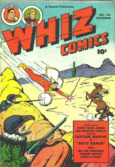 Cover for Whiz Comics (Fawcett, 1940 series) #103