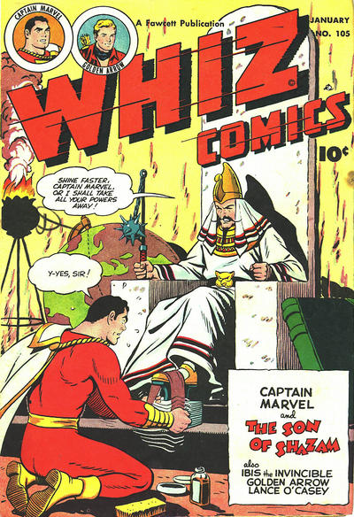 Cover for Whiz Comics (Fawcett, 1940 series) #105
