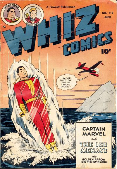 Cover for Whiz Comics (Fawcett, 1940 series) #110