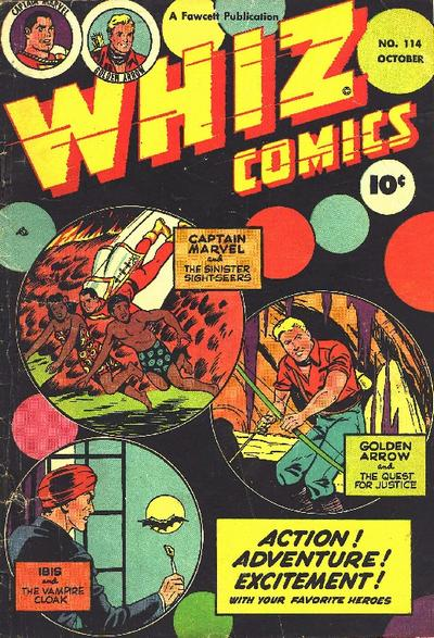 Cover for Whiz Comics (Fawcett, 1940 series) #114
