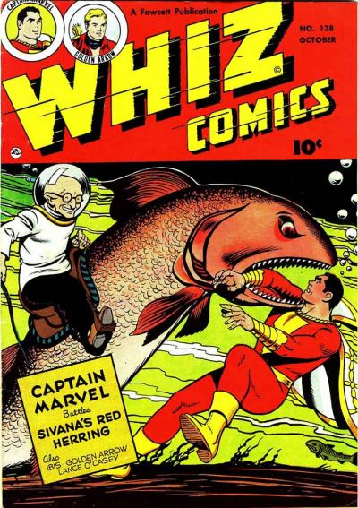 Cover for Whiz Comics (Fawcett, 1940 series) #138