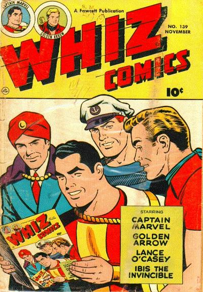 Cover for Whiz Comics (Fawcett, 1940 series) #139
