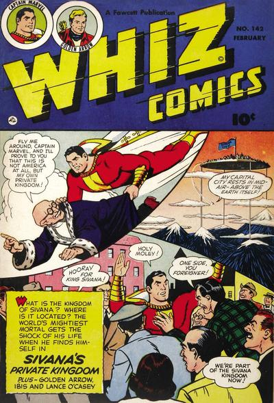 Cover for Whiz Comics (Fawcett, 1940 series) #142