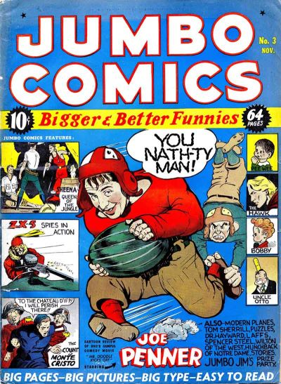 Cover for Jumbo Comics (1938 series) #3