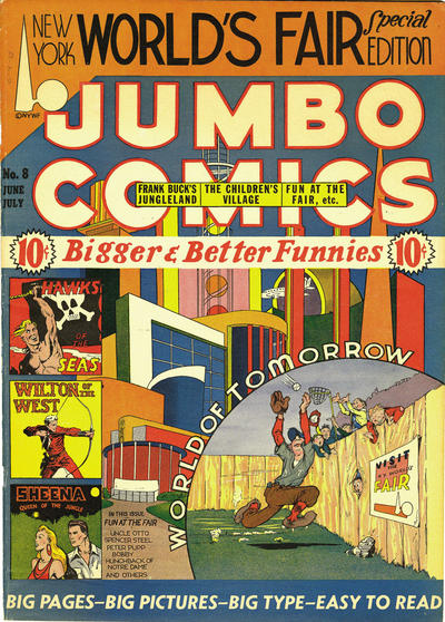 Cover for Jumbo Comics (Fiction House, 1938 series) #8