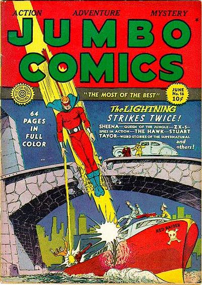 Cover for Jumbo Comics (1938 series) #16