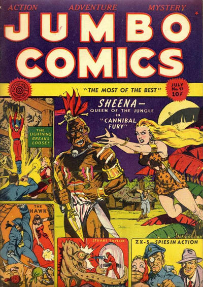 Cover for Jumbo Comics (1938 series) #17