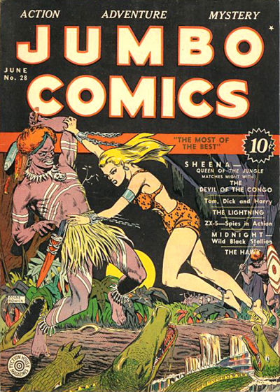 Cover for Jumbo Comics (1938 series) #28