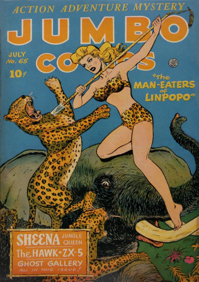 Cover for Jumbo Comics (Fiction House, 1938 series) #65