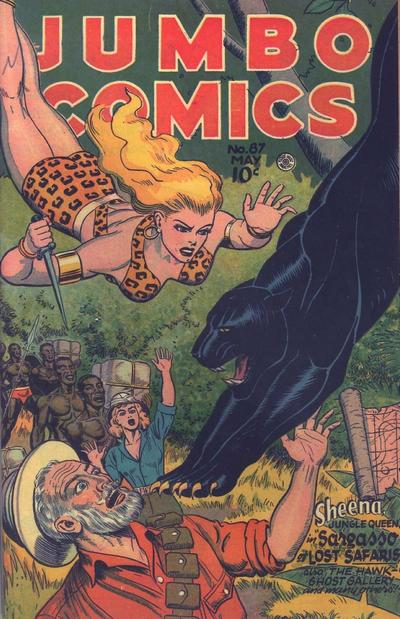 Cover for Jumbo Comics (Fiction House, 1938 series) #87