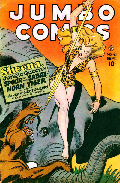 Cover for Jumbo Comics (Fiction House, 1938 series) #91