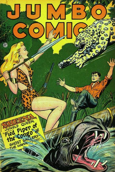Cover for Jumbo Comics (1938 series) #92