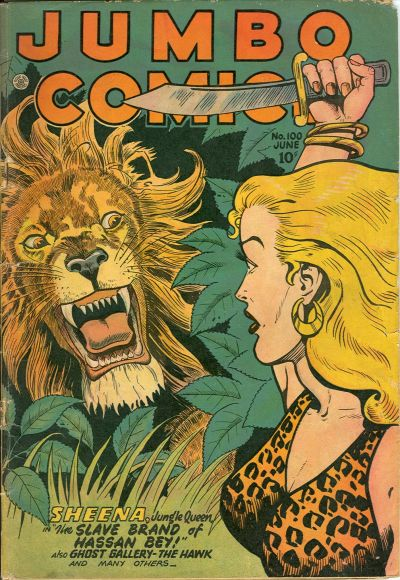 Cover for Jumbo Comics (Fiction House, 1938 series) #100