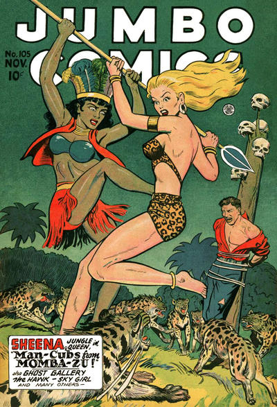 Cover for Jumbo Comics (Fiction House, 1938 series) #105