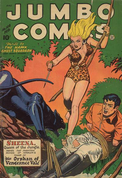 Cover for Jumbo Comics (Fiction House, 1938 series) #108