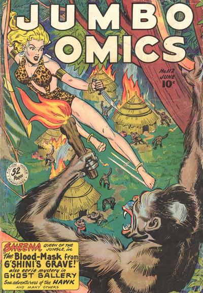 Cover for Jumbo Comics (Fiction House, 1938 series) #112