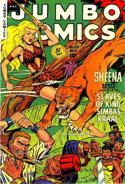 Cover for Jumbo Comics (Fiction House, 1938 series) #129