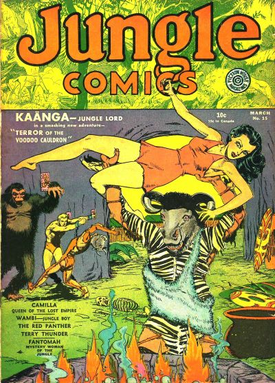 Cover for Jungle Comics (Fiction House, 1940 series) #15